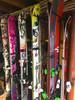 organized ski garage storage