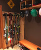 family ski rack for home storage