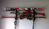 triple garage ski storage rack