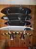 4 level storage rack for wakesurf baords