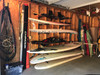 how to store standup paddleboards on wall