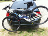 Mountain bike on trunk style bike rack