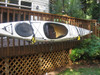 Suspenz deluxe kayak rack mounted on porch
