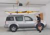 storing a kayak overhead in garage