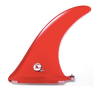 Rainbow Fin Company Mikey DeTemple MD3 longboard fin in red