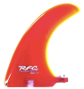 Rainbow Fin Company Rake longboard surfboard fin in red