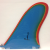 Rainbow Fin Company Justin Quintal Noserider longboard surfboard fin in light blue