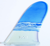 Rainbow Fin Company Justin Quintal Noserider longboard surfboard fin in multi