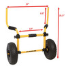 universal fit ocean kayak cart size