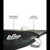 universal longboard travel bag