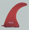 Rainbow Fin Company TK Flex longboard fin in red