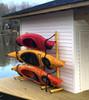 3 kayak storage stand rack metal outdoor indoor garage dock