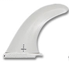 "Durable and affordable 9"" SUP fin in white for beginner or rental paddleboards"