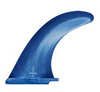 "Durable and affordable 9"" SUP fin in blue for beginner or rental paddleboards"