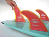 Paddleboard safety fin with soft edges and flexibility for beginners, rentals SUPs or paddleboard schools