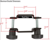 roof rack bracket max size