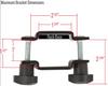 roof rack bracket max size