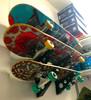 indoor skateboard wall rack organizer mount display