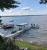 lake dock kayak storage rack