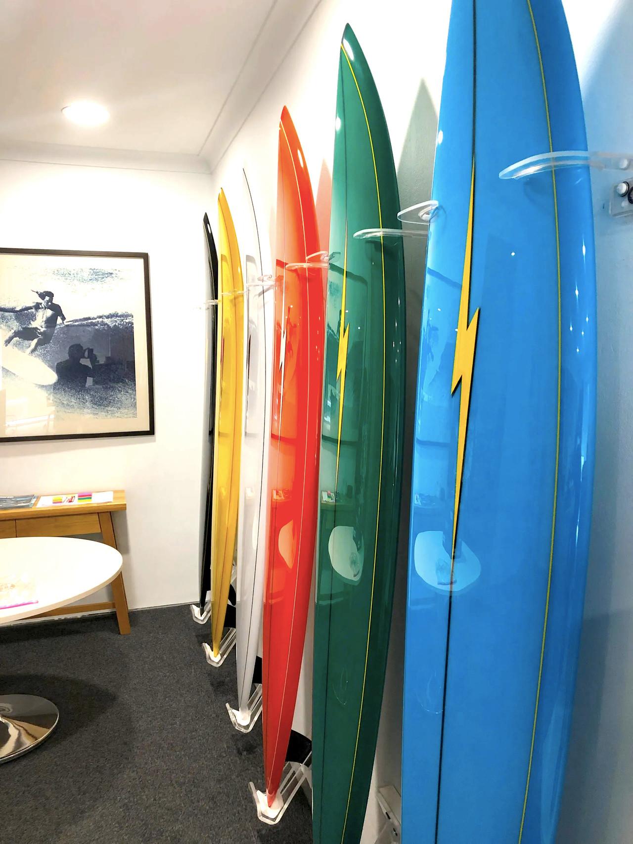 Surfboard wall Rack Display Longboard Acrylic VERTICAL Wall Rack Sets