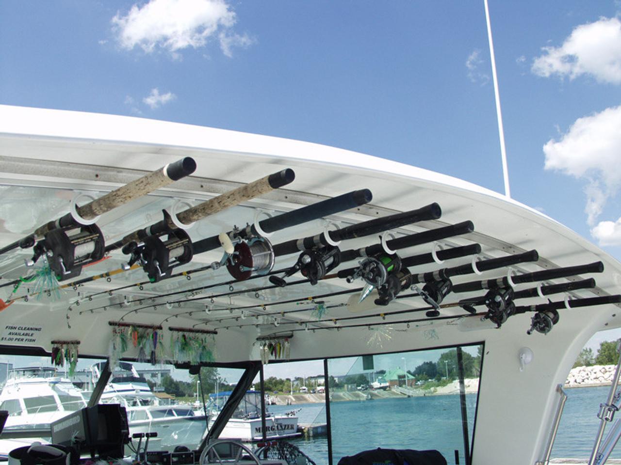 Details about  /Fast Retrieve Fishing Pole StorageFits 6 Rods