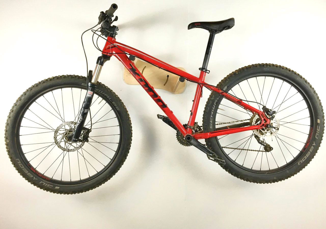 Adjustable Bike Wall Rack Mountain And Road Bike Birch Wood Storeyourboard Com