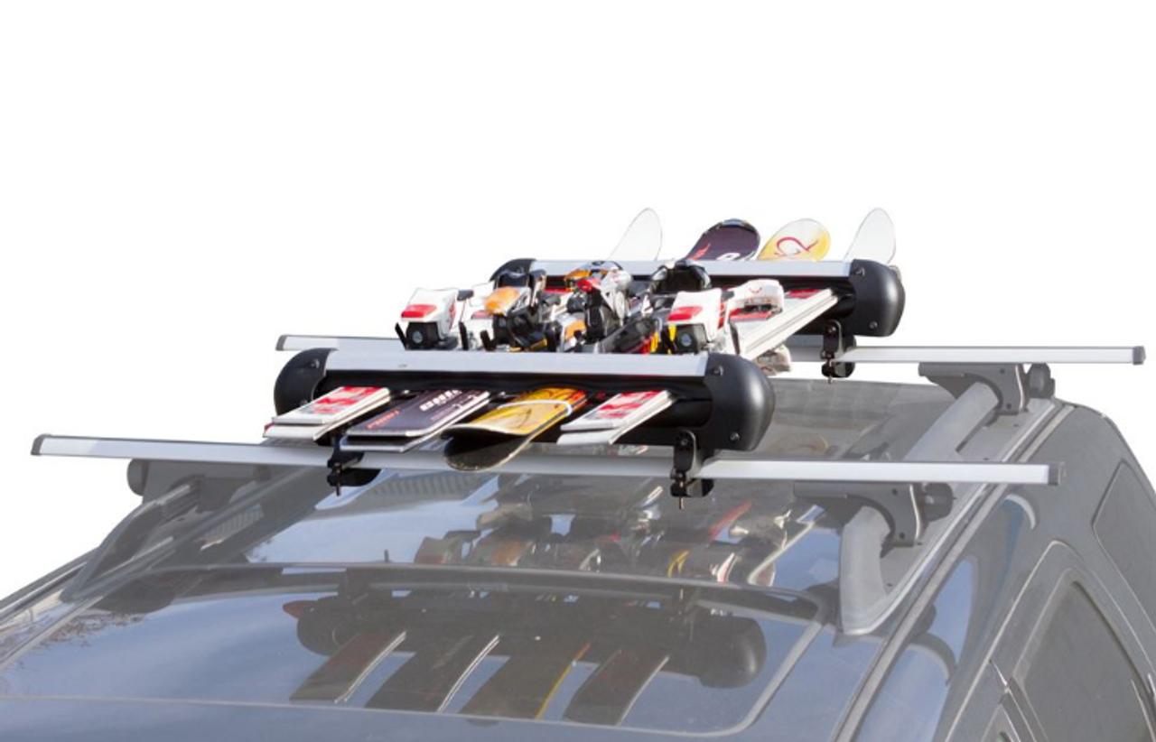 Roof Rack Ski & Snowboard Carrier   Locking Rack