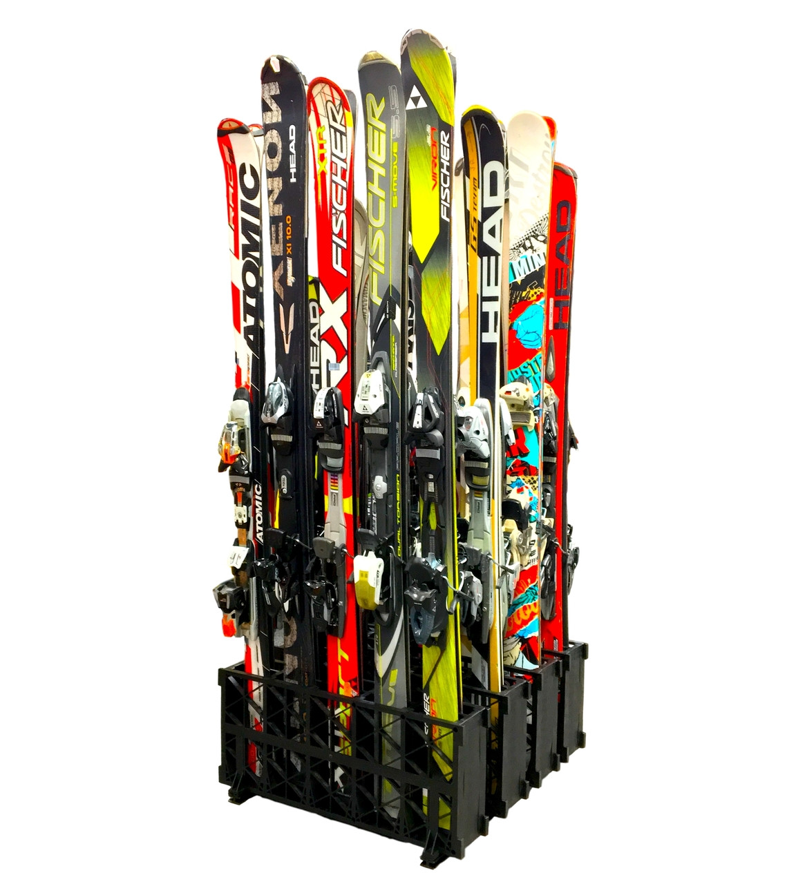 retail ski storage display stand