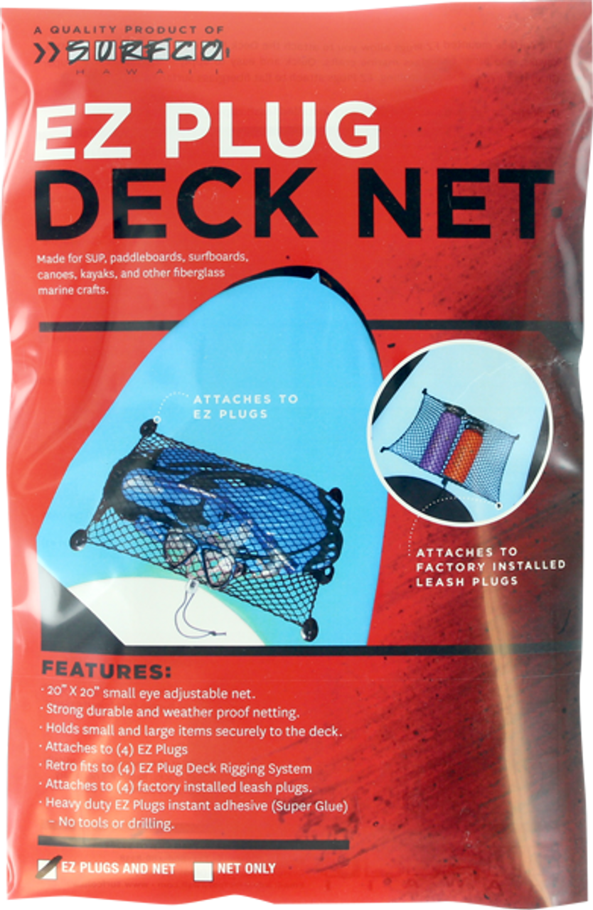 surfco EZ plug SUP deck net