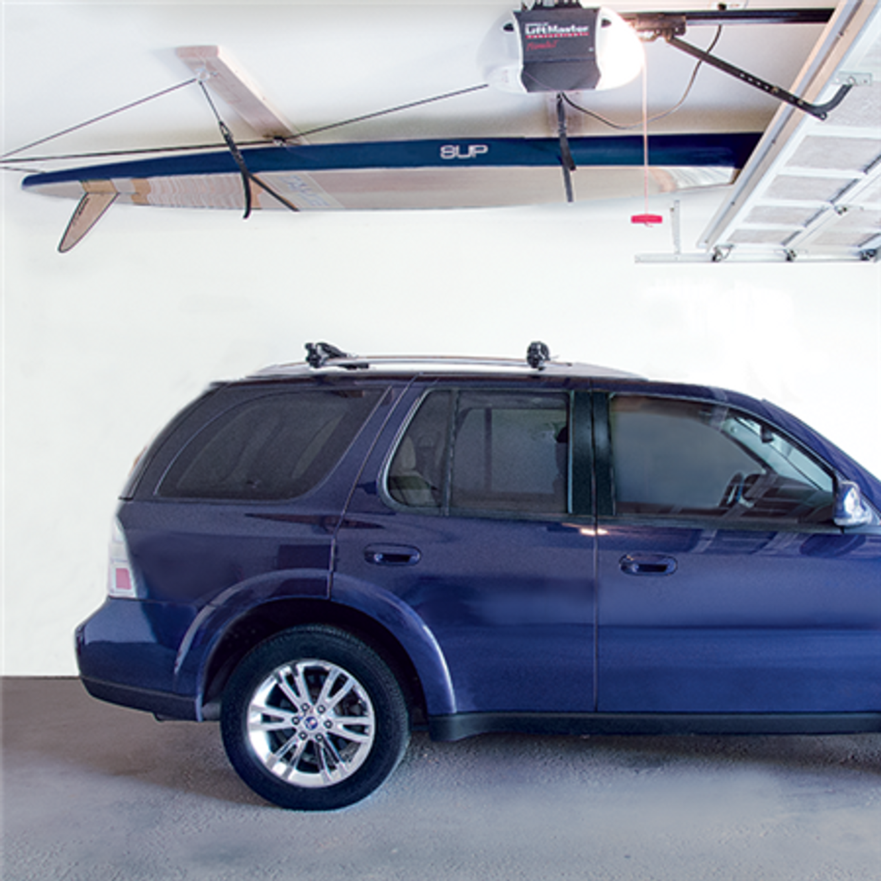 surfboard ceiling cable rack