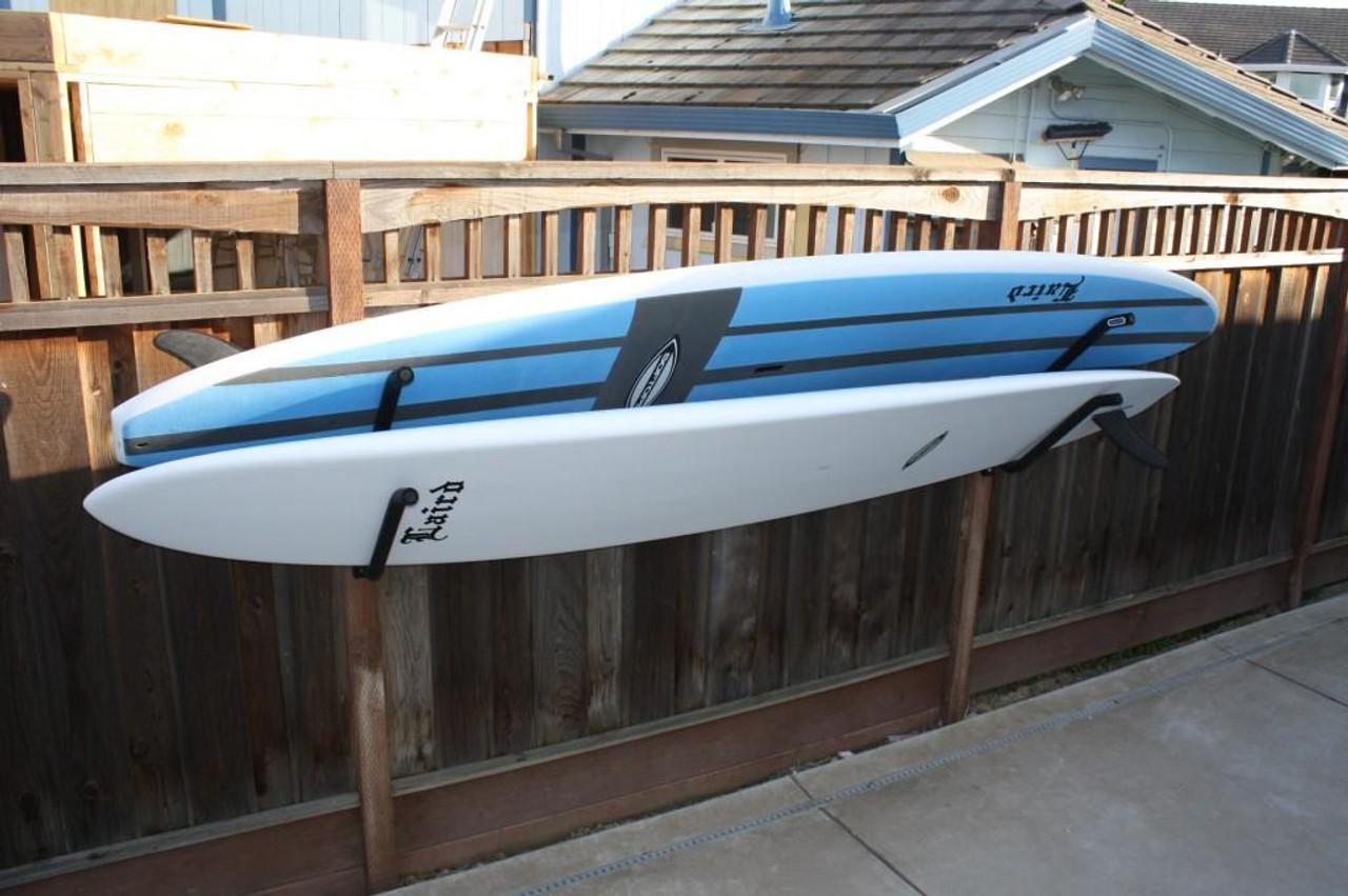 outdoor surfboard wall rack rust