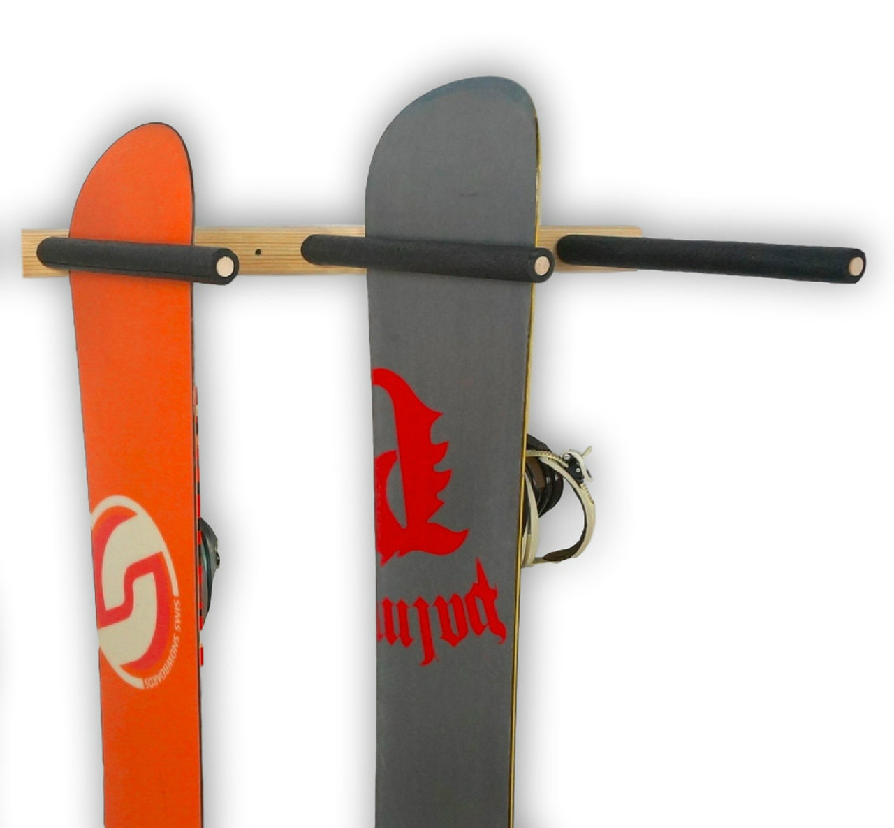 vertical snowboard storage rack
