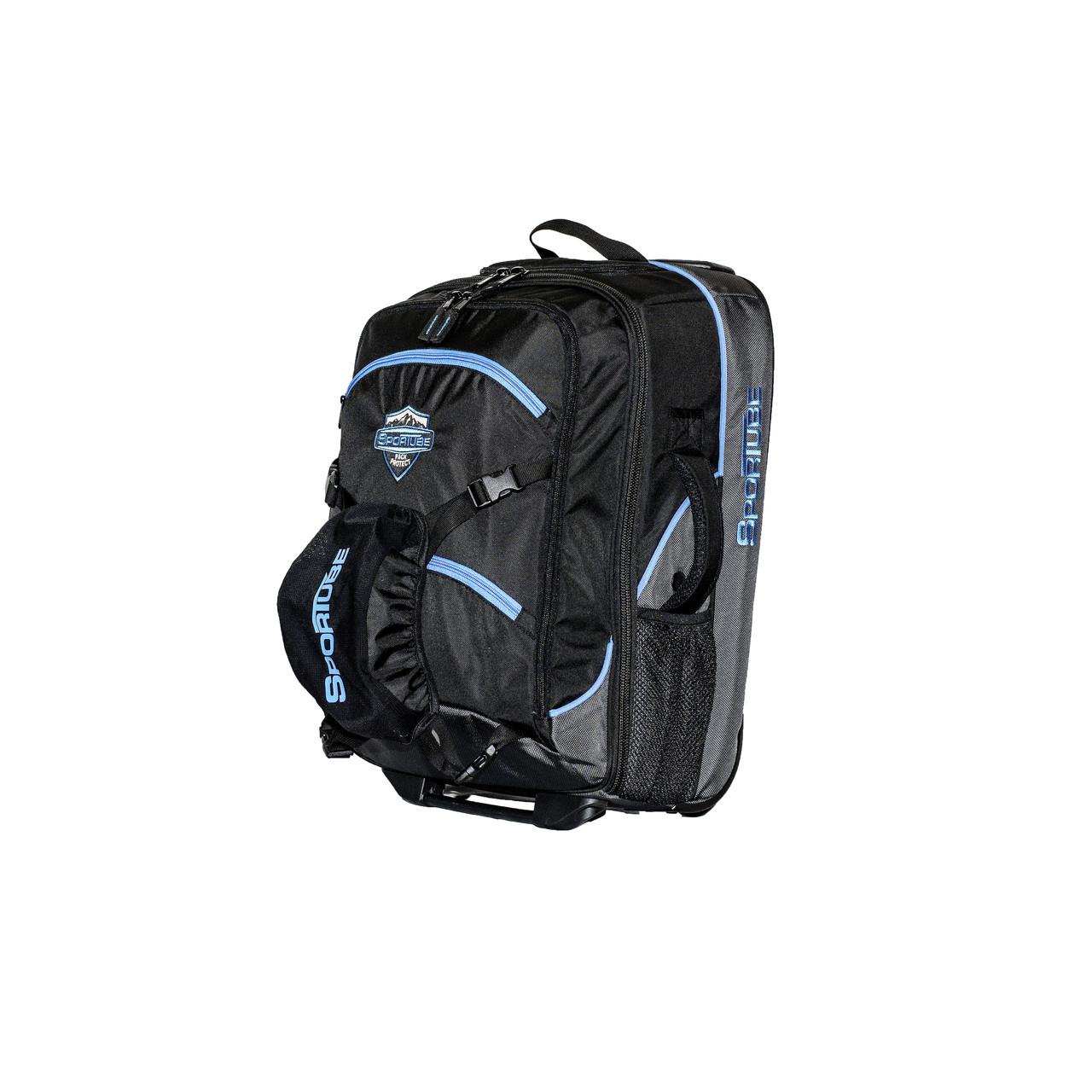 blue pull handle padded ski boot bag 32fbc675d45cd