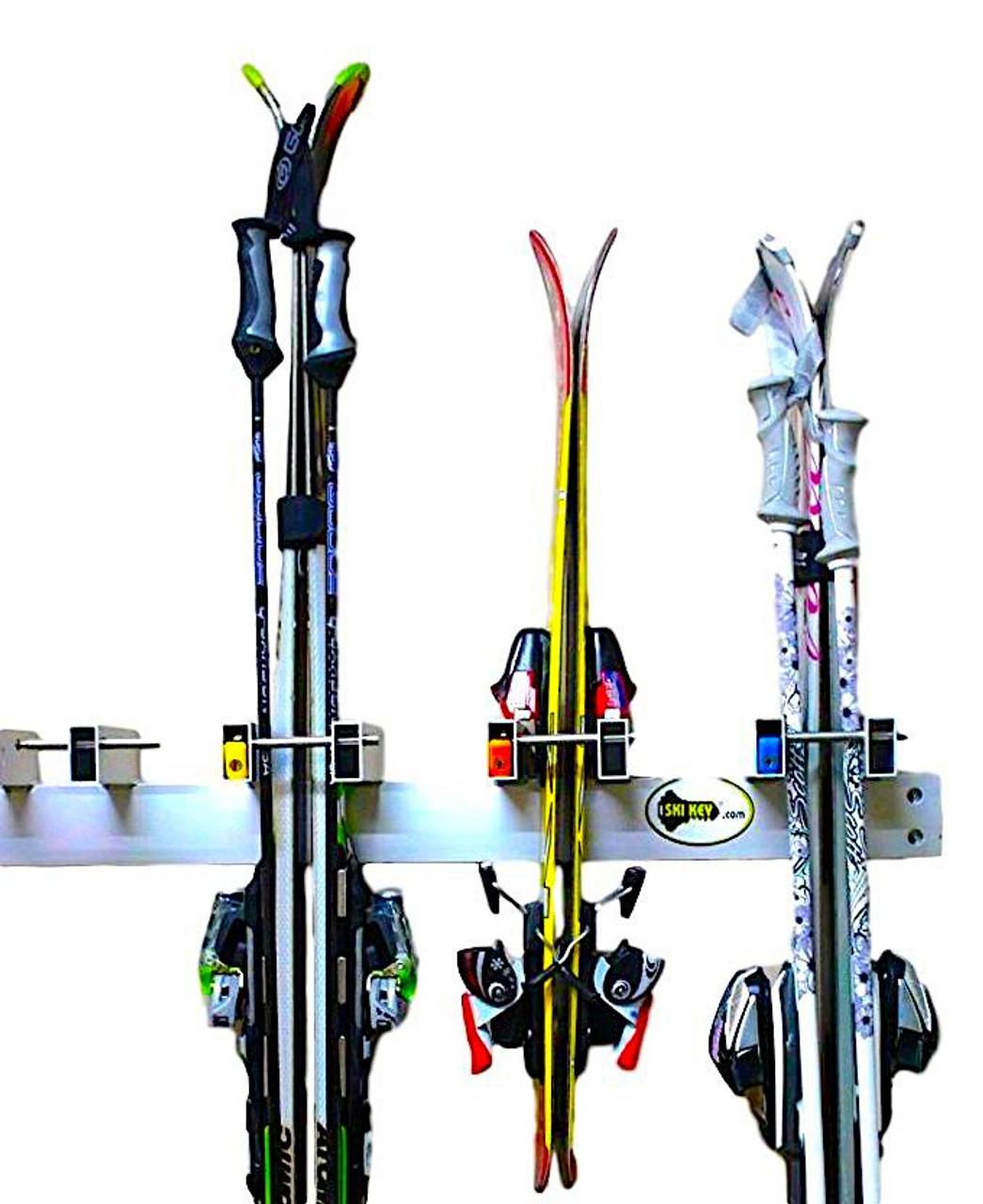 Locking Ski Wall Rack | Ski Resort Rack