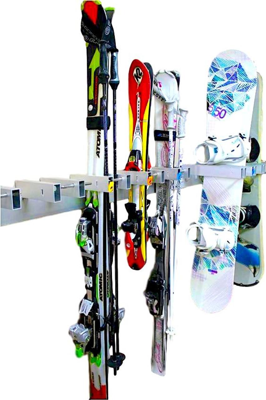 Locking Powder Ski and Snowboard Rack | Ski Resort Rack
