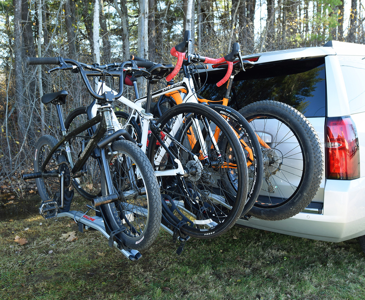 4 Bike Tray Style Car Rack | Hitch Mounted from Malone