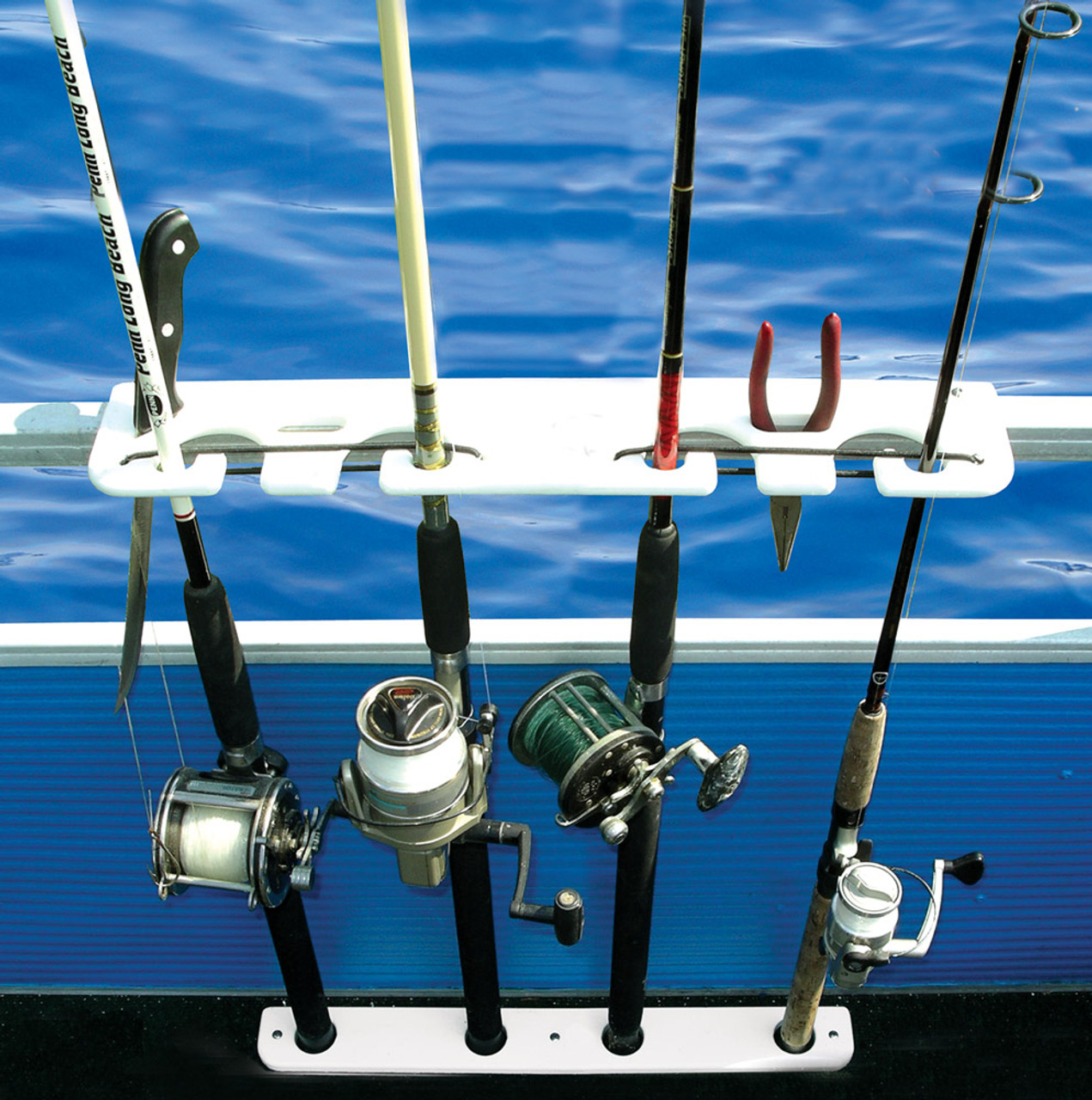 best pontoon boat fishing rack
