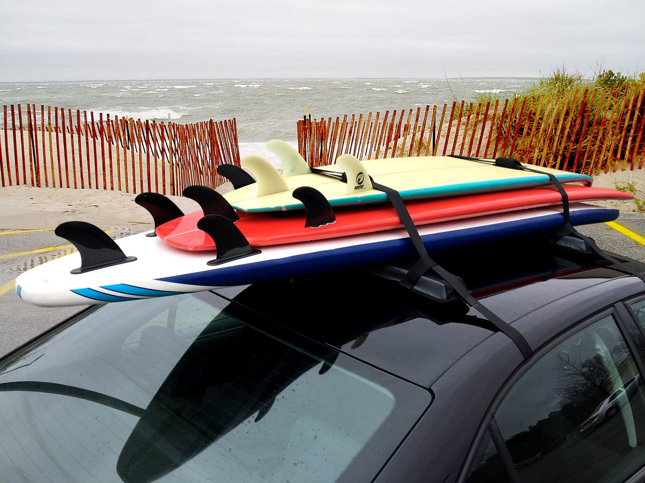 triple surfboard car roof rack