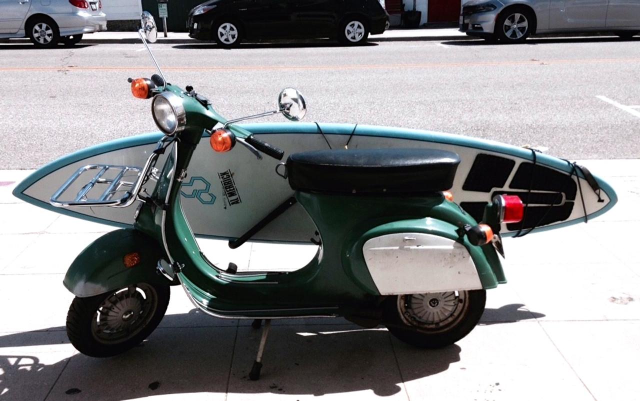 scooter surfboard rack