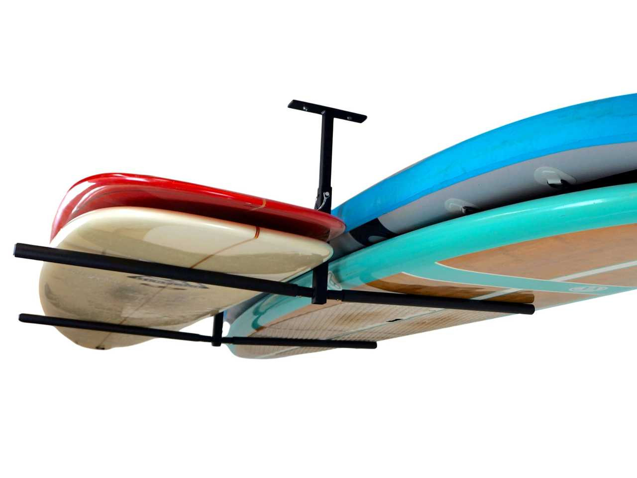 paddleboard ceiling rack surfboards