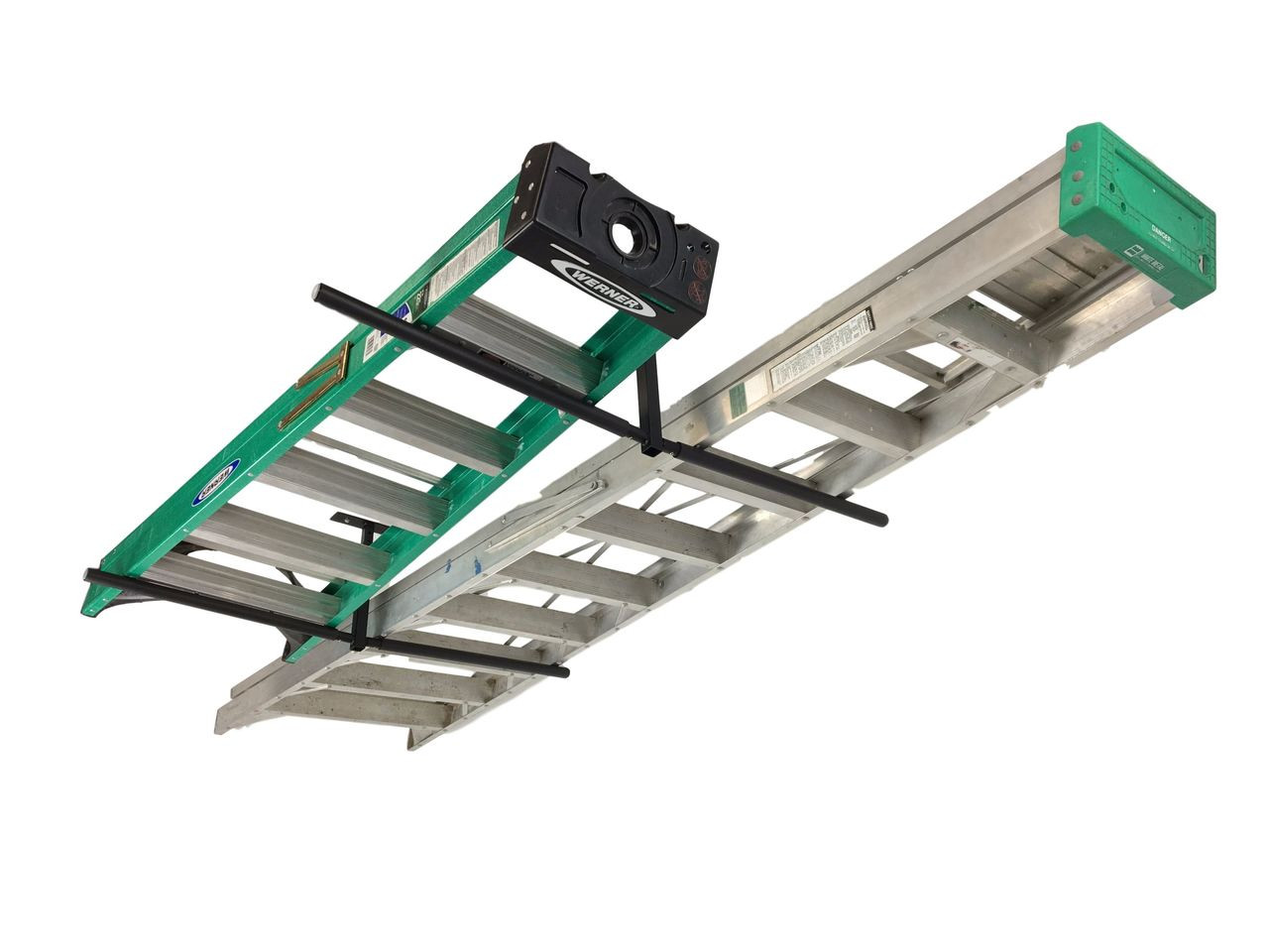 best garage ladder storage rack ceiling overhead mount