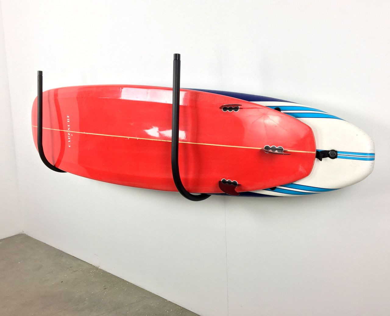 paddleboard wall rack padded metal