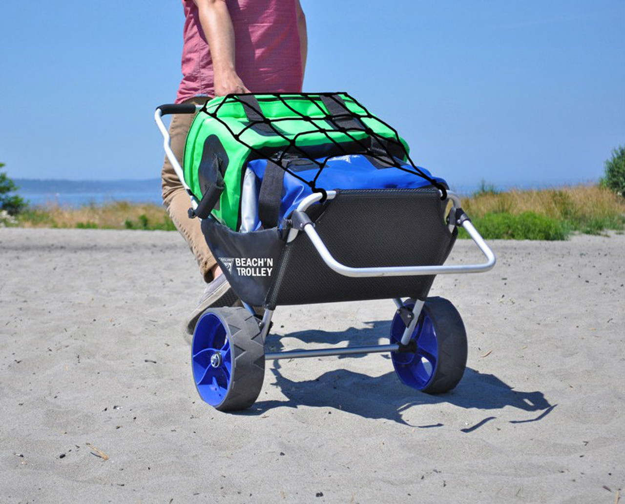 Beach Trolley and Chair | Flat Wheel