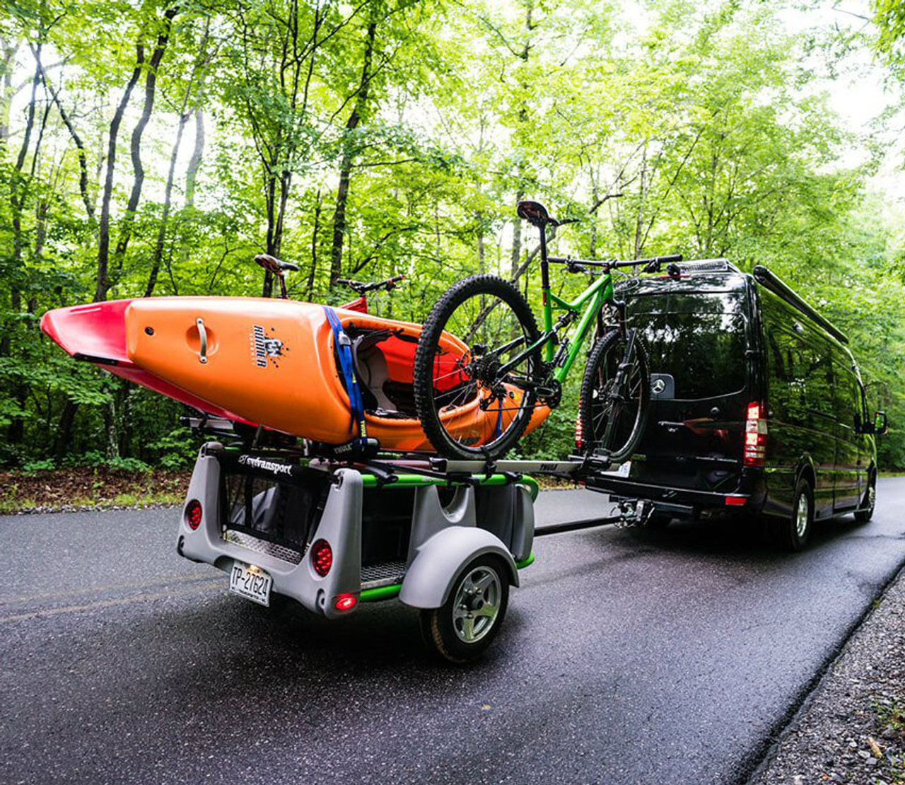 customizable kayak bike canoe paddleboard trailer