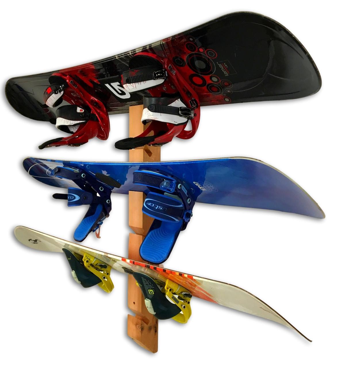 Handcrafted Cedar Wall Rack | 6 Snowboards | Single Mount