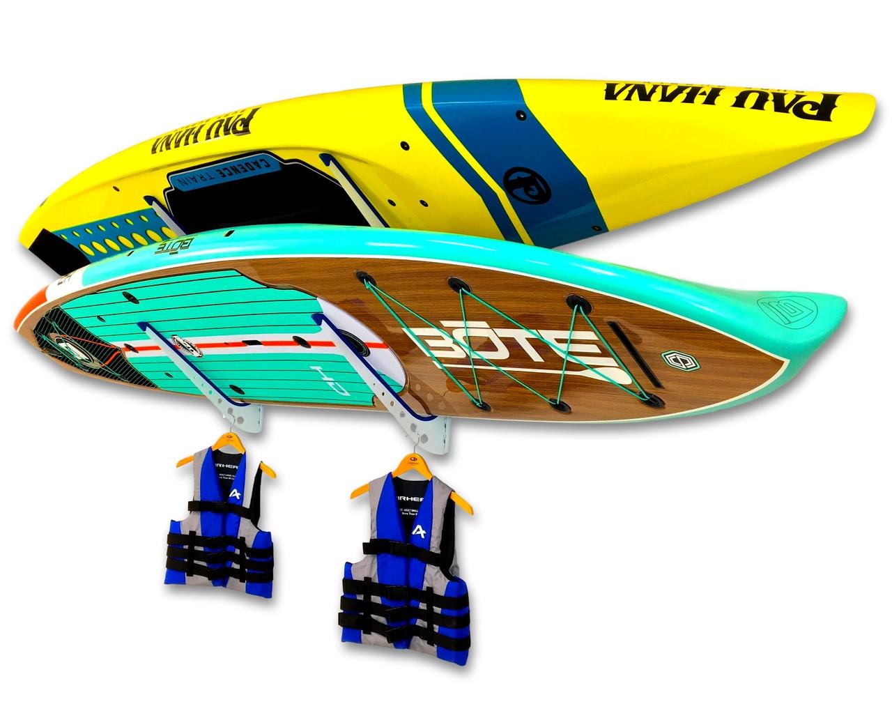adjustable paddleboard wall rack