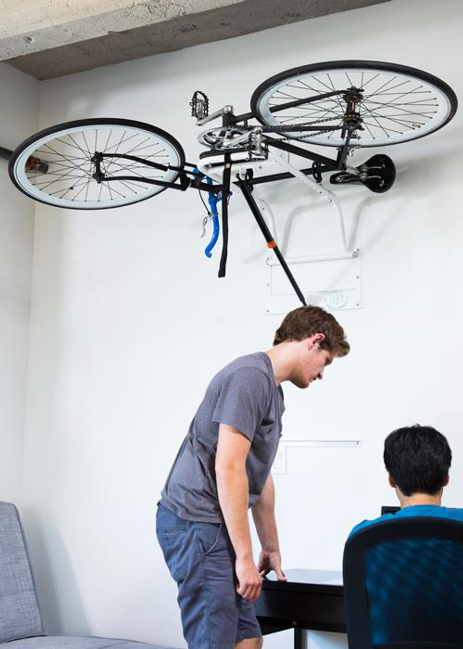zero gravity hydraulic bike storage lift
