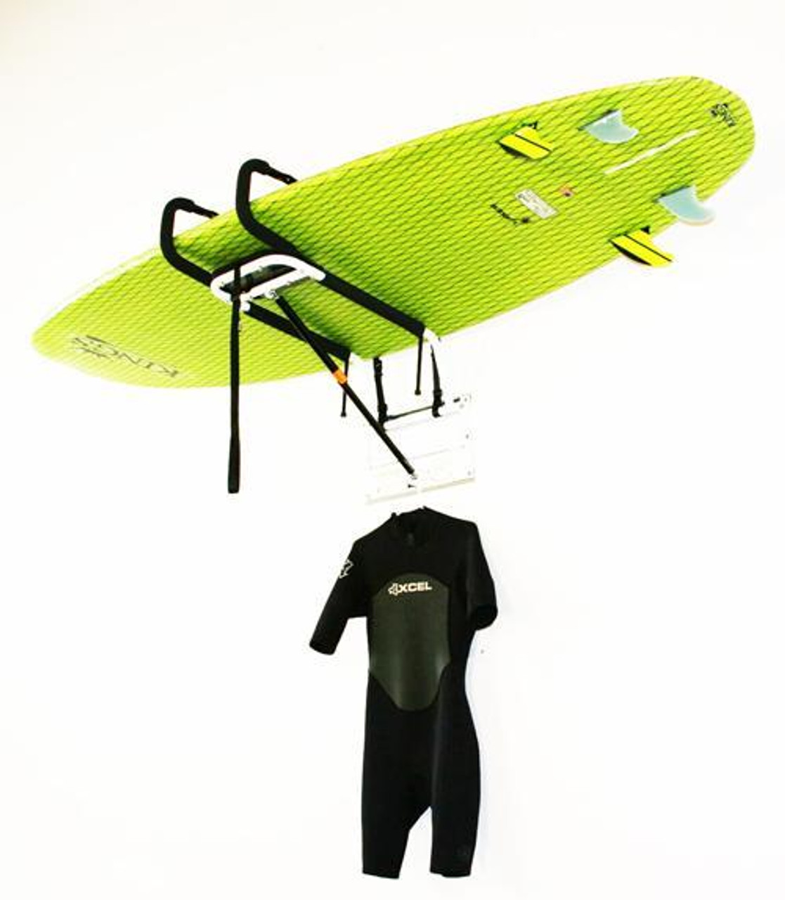 zero gravity hydraulic SUP storage lift