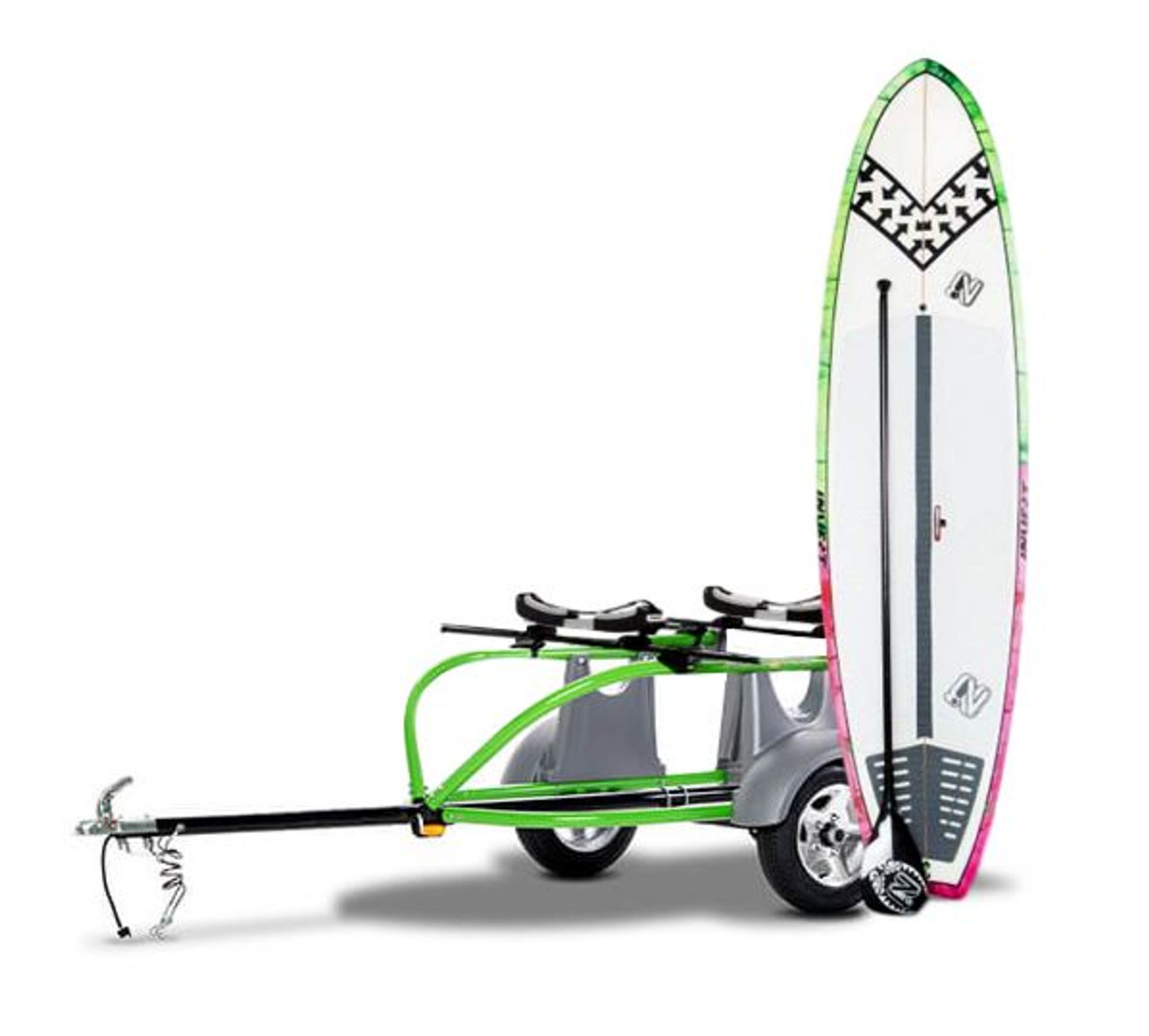 SUP and surfbaord car truck and SUV trailer