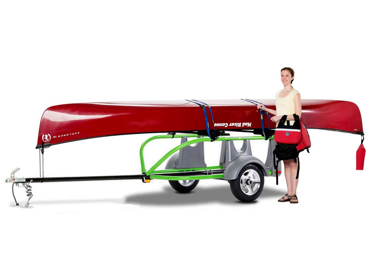 car truck and SUV canoe trailer